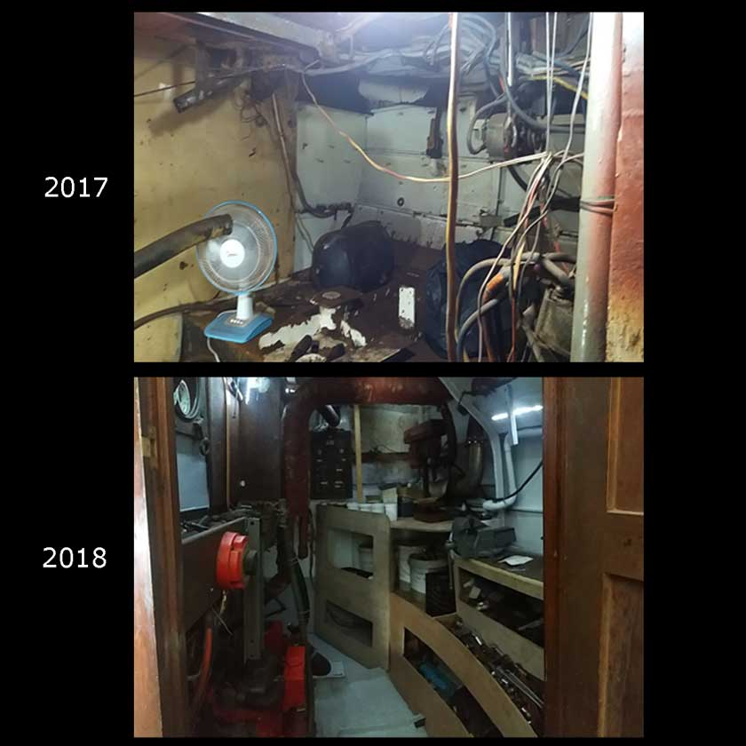 the refit : the engine room 1