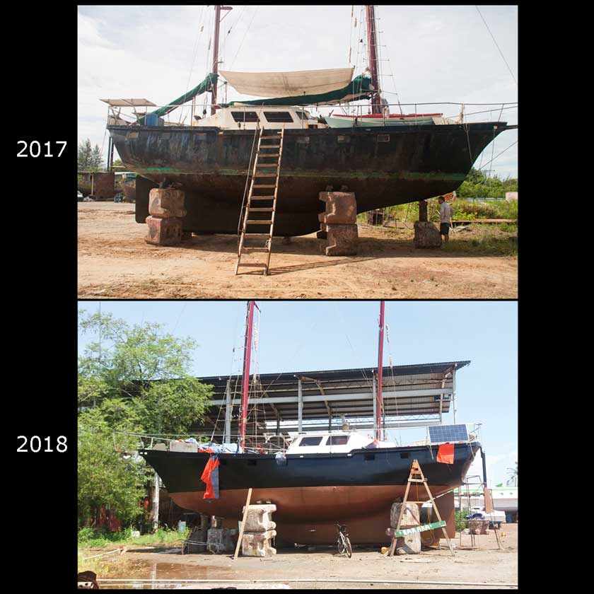the refit : the hull