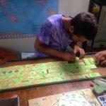 Mike making Karakassone's game